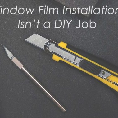 window film installer is a professsional