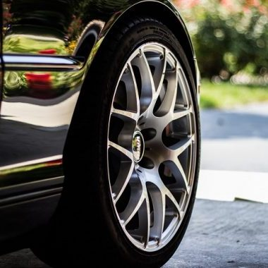 ceramic wheel coating on a tire